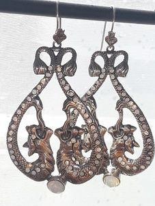 Temptation Double Serpant Earrings Sterling Silver